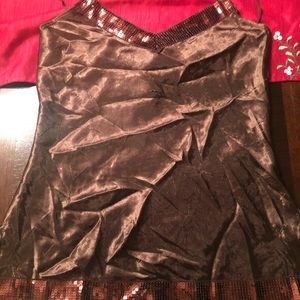 Maurices Brand Fancy Spaghetti Strap Tank top Med.